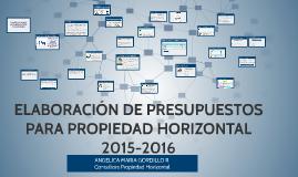 Copy of PRESUPUESTOS PARA PROPIEDAD HORIZONTAL 2015-2016