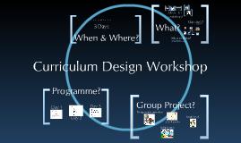 Curriculum Design Workshop