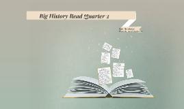 Big History Read Quarter 2