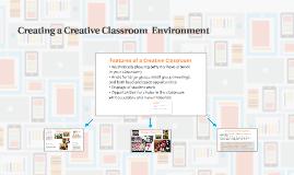 Creating a Creative Classroom Environment