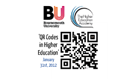QR Codes in Higher Education