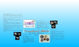 Transitional Metals