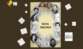 RIZAL SIBLINGS