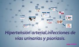 Hipertensión arterial,infecciones de vías urinarias y psoria