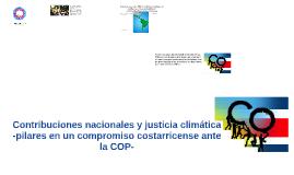 Contribuciones nacionales y justicia climática
