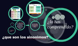 ¿que son los sinonimos?