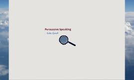 Persuasive Speech - Sales Speech
