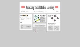 Assessing Social Studies Learning