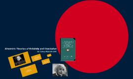 Copy of Einstein's Theories of Relativity and Gravitation