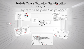 Copy of Peabody Picture Vocabulary Test- 4th Edition