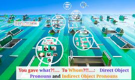 Spanish II:  Unit 1:  Direct Object Pronouns and Indirect Object Pronouns