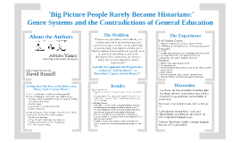 Big Picture People Rarely Become Historians:' Genre Systems and the Contradictions of Higher Education