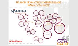 RÉUNION DE MAÎTRES D'APPRENTISSAGE SKEMA 2018/2019