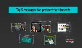 Top 5 messages for prospective students