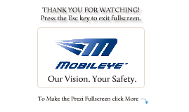 Copy of Mobileye C2-270 Introduction