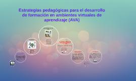 Estrategias pedagógicas para el desarrollo de formación en a