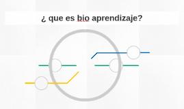¿ que es bio aprendizaje?