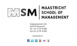 Copy of Maastricht School of Management