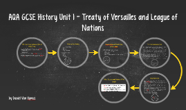 AQA GCSE History Unit 1 - Treaty of Versailles and League of Nations Revision