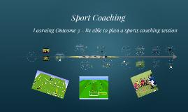 Plan a sports coaching session