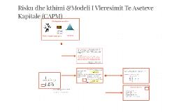 Risku dhe kthimi &Modeli I Vleresimit Te Aseteve Kapitale (C