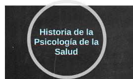 Historia de la Psicología de la Salud