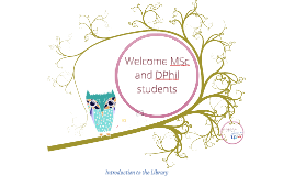 Higher Degrees Welcome Lecture 2015