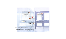 Incoming Concerns: Transitions to College Writing