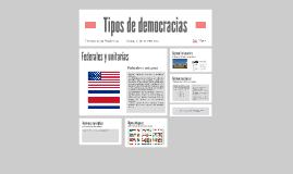Tipos de democracias
