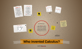 Who invented Calculus?