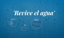 'Revive el agua'
