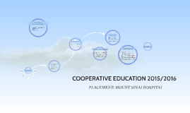 COOPERATIVE EDUCATION 2015/2016