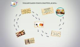 VOCABULARIO FOOD CHAPTER 3B SPA 1