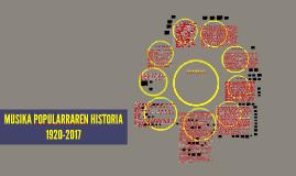 MUSIKA POPULARRAREN HISTORIA 1920-2010