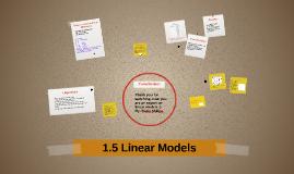1.5 Linear Models