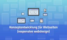 Konzeptentwicklung für Webseiten