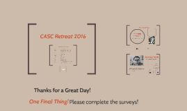 CASC Retreat 2016