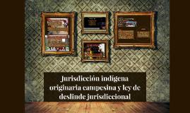 Jurisdicción indígena originaria campesina y ley de deslinde