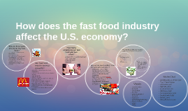 What are some of the effects of the fast food industry on society?
