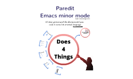 Paredit - emacs minor mode