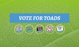 VOTE FOR TOADS