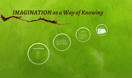 IMAGINATION as a Way of Knowing