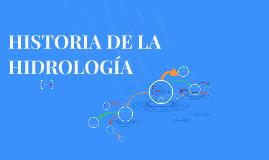 HISTORIA DE LA HIDROLOGIA