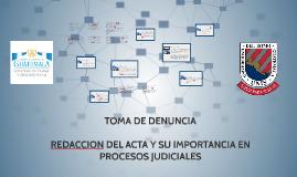 TOMA DE DENUNCIA