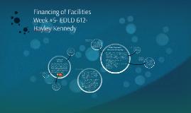 Financing of Facilities