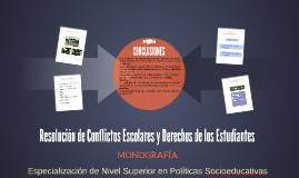 Resolución de Conflictos Escolares y Derechos de los Estudia