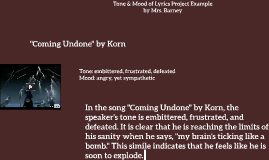 Tone & Mood of Lyrics Project Example
