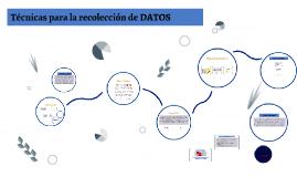 Técnicas para la recolección de datos