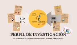 PERFIL DE INVESTIGACIÓN