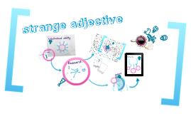Copy of presentación exposición adjetivos raros ingles